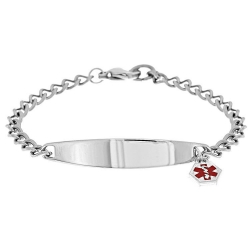 Stainless Steel Children s Bracelet W  Charm