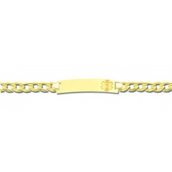 14K Yellow Gold Filled Children s Medical ID Bracelet w  Curb Chain