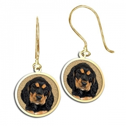Round Shaped Photo Pendant Kidney Wire Earrings