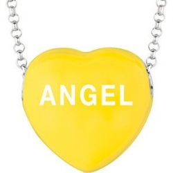 Sweethearts Enamel  Angel  16  Necklace with Gift Box