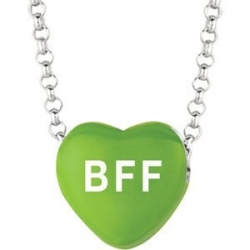 Sweethearts Enamel  BFF  16  Necklace with Gift Box