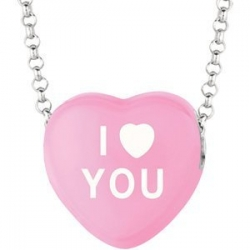 Sweethearts Enamel  I Heart You  16  Necklace with Gift Box