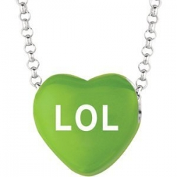 Sweethearts Enamel  LOL  16  Necklace with Gift Box