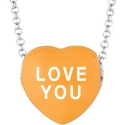 Sweethearts Enamel  Love You  16  Necklace with Gift Box