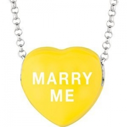 Sweethearts Enamel  Marry Me  16  Necklace with Gift Box