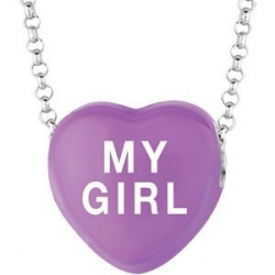 Sweethearts Enamel  My Girl  16  Necklace with Gift Box