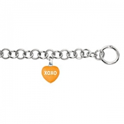 Sweethearts Enamel  XOXO  Heart Charm on 7 5  Bracelet