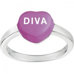 Sweethearts Enamel  Diva  Heart Shaped Sterling Silver Ring