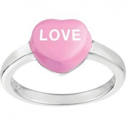 Sweethearts Enamel  Love  Heart Shaped Sterling Silver Ring