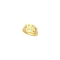 Fancy Script Gold Initial Ring