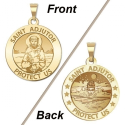 Saint Adjutor Doubles Sided Male Swimmer Medal    EXCLUSIVE