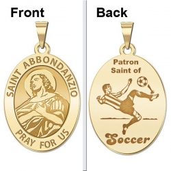 Saint Abbondanzio Oval Double Sided Soccer Medal  EXCLUSIVE