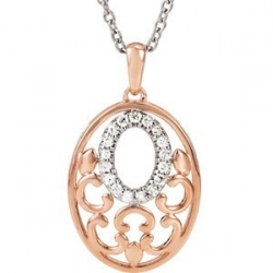 Diamond Oval Pendant