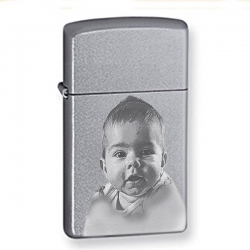 Zippo Laser Engravable Chrome Satin Lighter