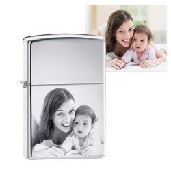Zippo Laser Engravable Chrome Polished Lighter