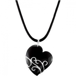 Genuine Onyx Heart Pendant
