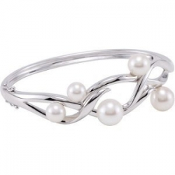 Freshwater Cultured Pearl Bangle Bracelet