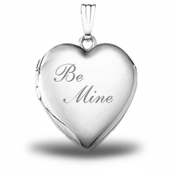 Sterling Silver   Be Mine  Heart Locket