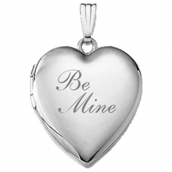14K White Gold  Be Mine  Locket