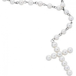White Freshwater Cultured Pearl Rosary