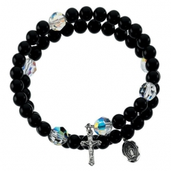 BLACK ONYX WRAP ROSARY