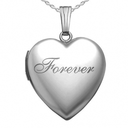 Sterling Silver Forever Heart Locket