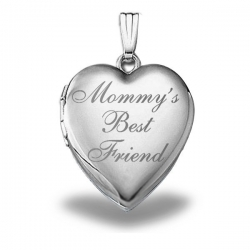 Sterling Silver Mommy s Best Friend  Heart Locket