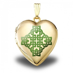 14K Yellow Gold  Color Celtic Knot   Sweetheart Locket