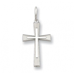 Sterling Silver Laser Designed Cross Charm