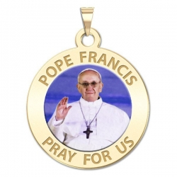 Pope Francis Medal Round Color  EXCLUSIVE