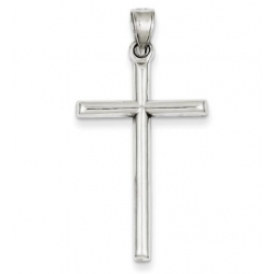 Sterling Silver Rhodium plated Latin Cross Pendant