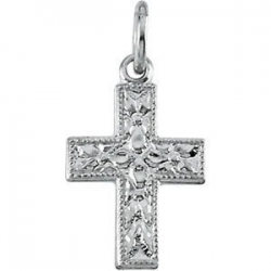 14K White Gold SMALL CROSS PENDANT