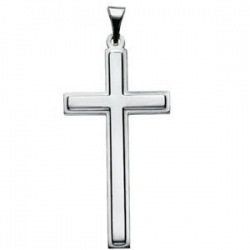 14K White Gold CROSS PENDANT