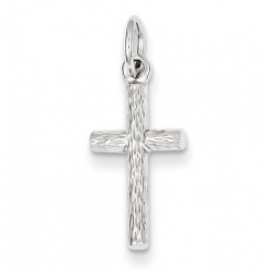 Sterling Silver Rhodium Plated Cross Pendant