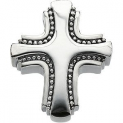 14K White Gold SMALL CROSS SLIDE