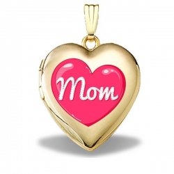 14K Gold Filled Mothers Day  Mom Heart  Heart Locket