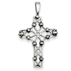 Sterling Silver Antiqued Cross Pendant