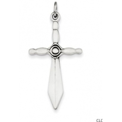 Sterling Silver Sword Cross Pendant