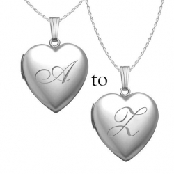 Sterling Silver English Style Initial Locket