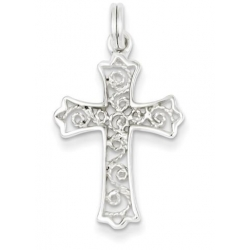 Sterling Silver Filigree Cross Charm