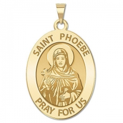 Saint Phoebe Oval Religious Medal  Round EXCLUSIVE