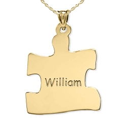 Personalized Family Single Puzzle Piece Pendant