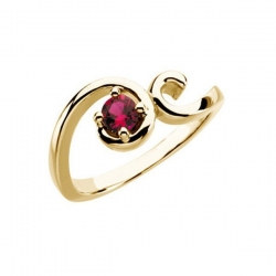Mother s Ring with Single Birthstone