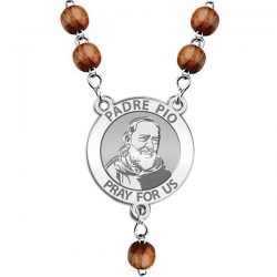 Padre Pio Rosary Beads  EXCLUSIVE