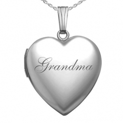 Sterling Silver  Grandma  Sweetheart Locket