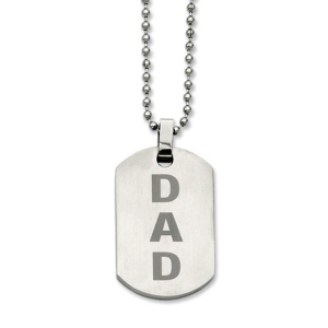 Stainless Steel DAD Dog Tag Pendant