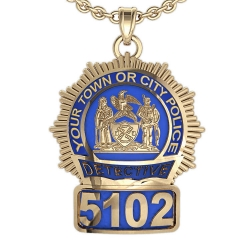 Personalized New York Detective Enamel Badge w  Your Number   Department