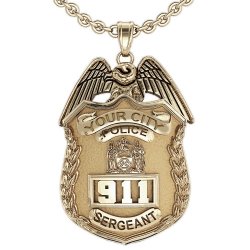Personalized New York Sergeant Badge w  Your Number   Department