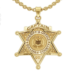 Personalized New York State Sheriff Badge w  Number  Rank   Dept