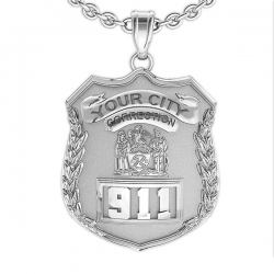 Personalized Correction s Officer Badge w  Your Number   Department